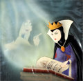 Animation Art:Production Cel, Snow White and the Seven Dwarfs The Evil Queen and the OldHag Production Cel with Courvoisier Background (Walt Disney...
