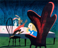 Animation Art:Concept Art, Mary Blair Alice in Wonderland Concept Painting Original Art(Walt Disney, 1951)....