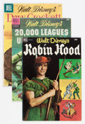 Golden Age (1938-1955):Miscellaneous, Four Color Disney Movie and TV-Themed Group (Dell, 1952-61).... (Total: 20 Comic Books)