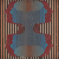 Latin American, JULIO LE PARC (b. 1928). Untitled, 1964. Acrylic on foam.19-3/4 x 19-3/4 inches (50.2 x 50.2 cm). Signed and dated lowe...