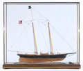 Maritime:Decorative Art, TWO SCALE MODELS OF THE AMERICA'S CUP YACHTS: AMERICA ANDBRITANNIA. Modern. 23 x 27-1/2 x 8-1/4 inches (58.4 x 69.9 x 21.0... (Total: 2 Items)