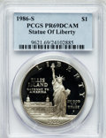 Modern Issues: , 1986-S $1 Statue of Liberty Silver Dollar PR69 Deep Cameo PCGS.PCGS Population (8219/227). NGC Census: (10671/333). Mintag...