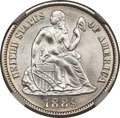Seated Dimes, 1889-S 10C MS65 NGC....