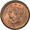 Large Cents, 1853 1C MS65 Red PCGS. CAC. N-25, R.1....