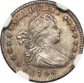 Early Half Dimes, 1796 H10C LIKERTY -- Improperly Cleaned -- NGC Details. AU. V-1,LM-1, R.3....