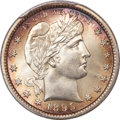 Barber Quarters, 1895 25C MS66 PCGS. CAC....