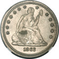 Seated Quarters, 1863 25C MS65 NGC....