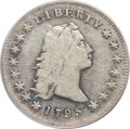 Early Dollars, 1795 $1 Flowing Hair, Three Leaves Fine 12 PCGS. B-6, BB-25,R.3....