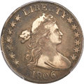 Early Half Dollars, 1806 50C 6 Over Inverted 6 XF40 PCGS. CAC. O-111a, R.4....