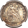 Seated Dimes, 1857-O 10C MS66 NGC. CAC. Fortin-104....