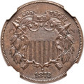 Two Cent Pieces, 1872 2C MS61 Brown NGC. FS-101....