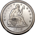 Seated Quarters, 1858 25C MS66 NGC....