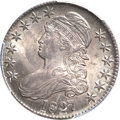 Bust Half Dollars, 1827 50C Square Base 2 MS64 PCGS. O-129, Low R.4....