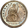 Proof Seated Quarters, 1875 25C PR65 PCGS. CAC....