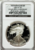 Modern Bullion Coins, 2006-W $1 One Ounce Silver Eagle, 20th Ann. PR69 Ultra Cameo NGC.NGC Census: (24100/13001). PCGS Population (9029/1343). ...