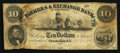 Obsoletes By State:Tennessee, Athens, TN G(eorge) W. Ross Dealer in Exchange on a Charleston, SC- Farmers & Exchange Bank $10 Dec. 12, 1853 Host Note Garl...
