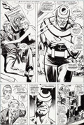 Original Comic Art:Panel Pages, Bob Brown and Klaus Janson Daredevil #132 Bullseye Page 23Original Art (Marvel, 1976)....