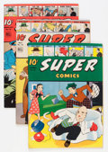 Golden Age (1938-1955):Miscellaneous, Super Comics Group (Dell, 1943-47) Condition: Average VF-.... (Total: 6 Comic Books)