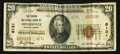 National Bank Notes:Pennsylvania, Minersville, PA - $20 1929 Ty. 2 The Union NB Ch. # 6131. ...