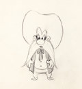 Animation Art:Production Drawing, Ballot Box Bunny Yosemite Sam Production Drawing (Warner Brothers, 1951).... (Total: 2 Items)