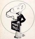Animation Art:Production Drawing, Robert McKimson Mouse Tales Illustration Original Art(1920s).... (Total: 2 Items)