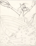 Animation Art:Production Drawing, Robert McKimson Sylvester Coloring Book PreliminaryIllustration Sketch (Western Publishing, 1960s).... (Total: 2Items)