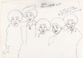 Animation Art:Production Cel, The Jackson Five Production Drawing (Rankin-Bass, 1972)....