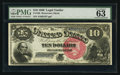 Large Size:Legal Tender Notes, Fr. 105 $10 1880 Legal Tender PMG Choice Uncirculated 63.. ...