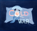 Animation Art:Production Drawing, The Cold War Title Card Illustration (Walt Disney, 1951)....