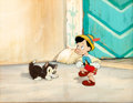 Animation Art:Production Cel, Pinocchio Production Cel and Master Background (Walt Disney, 1940)....
