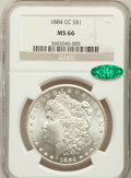 Morgan Dollars: , 1884-CC $1 MS66 NGC. CAC. NGC Census: (922/103). PCGS Population(1416/68). Mintage: 1,136,000. Numismedia Wsl. Price for p...