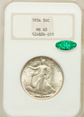 Walking Liberty Half Dollars: , 1934 50C MS65 NGC. CAC. NGC Census: (590/392). PCGS Population(813/580). Mintage: 6,964,000. Numismedia Wsl. Price for pro...