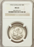 Commemorative Silver: , 1936 50C Cleveland MS65 NGC. NGC Census: (1922/560). PCGSPopulation (2127/679). Mintage: 50,030. Numismedia Wsl. Pricefor...