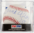 "Baseball Collectibles:Balls, Hank Aaron ""755"" Single Signed Baseball PSA Mint 9. ..."
