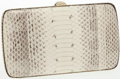 Luxury Accessories:Accessories, Sergio Rossi Natural Snakeskin Minaudiere Clutch with WalletInterior Bag. ...