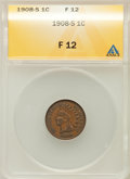 Indian Cents: , 1908-S 1C Fine 12 ANACS. NGC Census: (53/1420). PCGS Population(145/2102). Mintage: 1,115,000. Numismedia Wsl. Price for p...