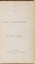 Books:Literature Pre-1900, Henry Wadsworth Longfellow. The Song of Hiawatha. Ticknorand Fields, 1855. First edition, first printing. Octav...
