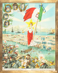 Fine Art - Work on Paper:Print, G. PETRONZIO (Italian, 20th Century), and others. Group of Three Schoolroom Prints, 1918. Chromolithographs. 22-1/2 x 26... (Total: 3 Items)