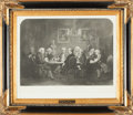 Fine Art - Work on Paper:Print, JAMES WILLIAM EDMUND DOYLE (British, 1822-1892). A LiteraryParty at Sir Joshua Reynold's October 1, 1851. Engraving. 17...