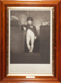 Fine Art - Work on Paper:Print, SIR CHARLES LOCK EASTLAKE (British, 1769-1825). NapoleonBonaparte (as he presented himself at the gangway of hisMajesty'...