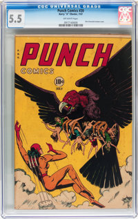 Punch Comics #20 (Chesler, 1947) CGC FN- 5.5 Off-white pages