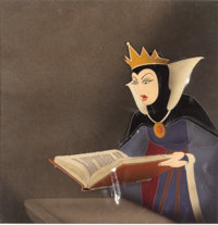 Snow White and the Seven Dwarfs Evil Queen Production Cel with Signed Card (Walt Disney, 1937)
