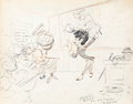 Animation Art:Production Drawing, Bill Tytla Going Away Drawing for Joe Magro (Walt Disney, 1937)....