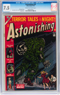 Golden Age (1938-1955):Horror, Astonishing #29 (Atlas, 1954) CGC VF- 7.5 Cream to off-whitepages....