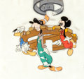 Animation Art:Production Cel, Clock Cleaners Donald Goofy and Mickey Production Cel (Walt Disney, 1937)....