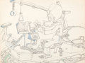 Animation Art:Production Drawing, Mickey's Amateurs Goofy Production Drawing (Walt Disney, 1937)....