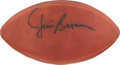 """Football Collectibles:Balls, Jim Brown Signed Leather """"Wilson"""" Football...."""
