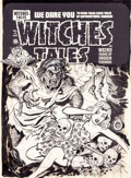 Original Comic Art:Covers, Joe Simon Witches Tales #15 Cover Original Art (Harvey,1952)....