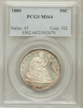 Seated Half Dollars, 1880 50C MS64 PCGS....