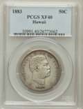 Coins of Hawaii: , 1883 50C Hawaii Half Dollar XF40 PCGS. PCGS Population (81/492).NGC Census: (39/344). Mintage: 700,000. ...